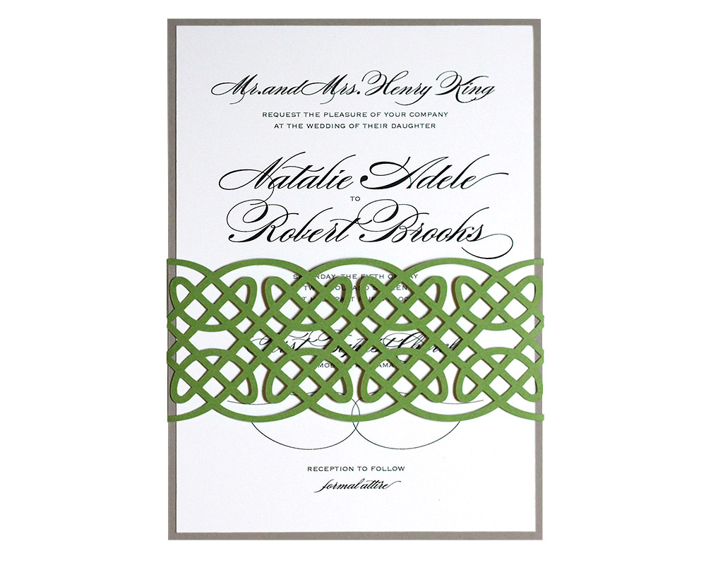 The Knot Addressing Wedding Invitations: Celtic Knot Invitations : Timeless Paper