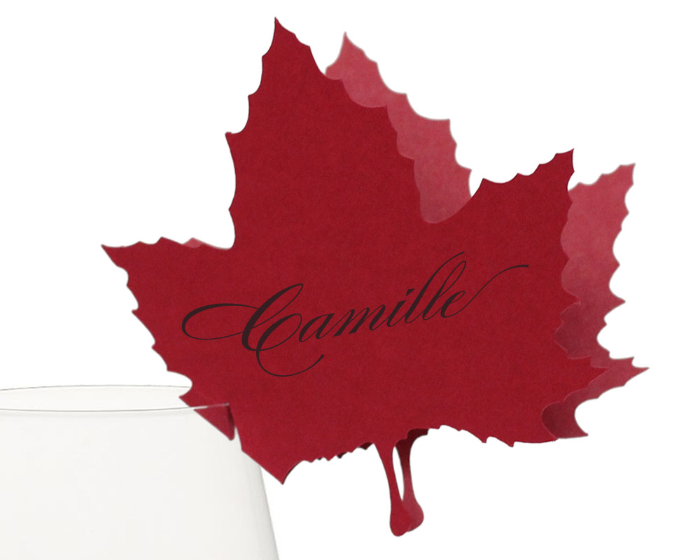 Maple Leaf Place Cards 100 eachTotal Price