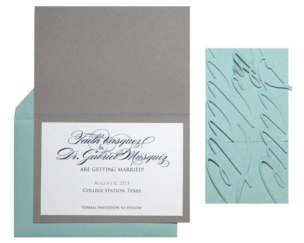 Monogram Save the Date Cards : Timeless Paper