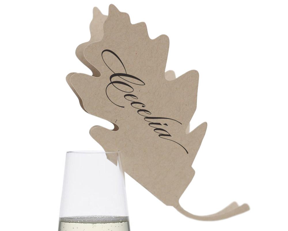Oak Leaf Place Cards 100 eachTotal Price