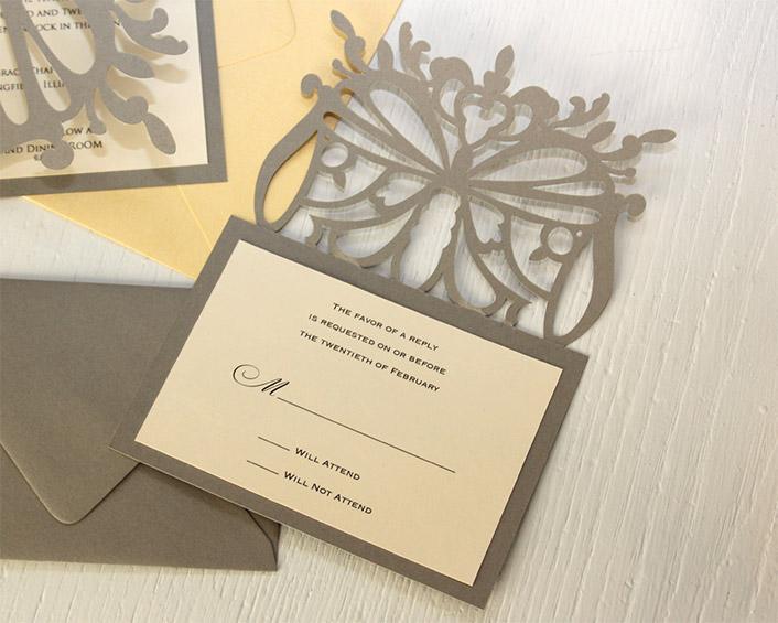 Flutter RSVP Cards : Timeless Paper