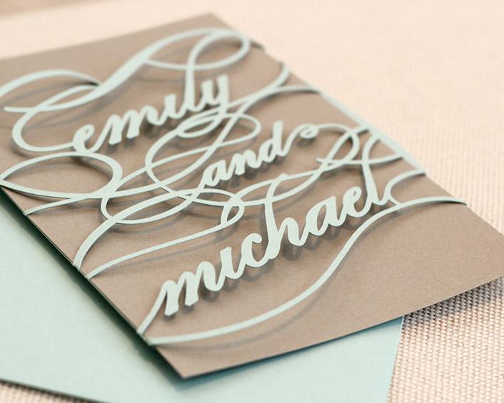 Initial Wedding Invitations: Monogram Invitations : Timeless Paper